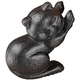 Cast Iron Cat Doorstop, One Size