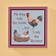 8x8 I Rule the Rooster Wood Wall Plaque