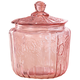 Pink Glass Biscuit Jar