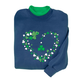 Shamrocks on Navy Sweatshirt, One Size