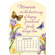 Mini Magnetic Butterfly Calendar, One Size