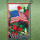American Flag Flower Garden Flag