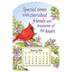 Mini Magnetic Calendar With Cardinal
