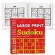 Large Print Sudoku Books, One Size