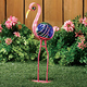 Pink Flamingo Gazing Ball Lawn Ornament