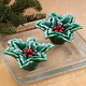 Holly Leaf Candles Set of 2