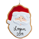 Personalized Santa Christmas Cookie Ornament