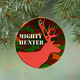 Mighty Hunter Porcelain Ornament