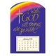 Religious Magnetic Calendar, One Size, Purple