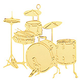 Musical Instrument Ornament Drum Set