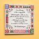 Personalized 8x8 Quilt Pattern Wood Wall Plaque