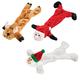 Stuffing Free Christmas Dog Toys, Set of 3, One Size