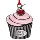 Pewter Life is Sweet Cupcake Ornament, One Size