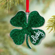 Pewter Lucky Four Leaf Clover Ornament, One Size