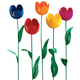 Artificial Tulips - Set Of 5
