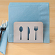 Napkin Holder with Silverware Design
