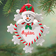 Personalized Snowman Heart Ornament