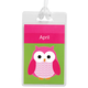 Personalized Owl Luggage Tag, One Size
