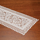 Lace Table Runner Eggshell