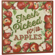 12 x 12 Fresh Picked Apples Metal Wall Plaque, 12