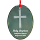 Personalized Glass Baptism Ornament, One Size
