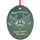 Personalized Glass Anniversary Ornament, One Size