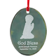 Personalized Glass Praying Child Ornament, One Size