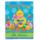 Personalized Easter Chicks Garden Flag, One Size