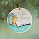 Personalized I Love Reading Porcelain Ornament