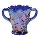 Carnival Blue Glass Spooner