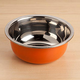 Small Stainless Steel Bowl - Orange