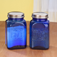Cobalt Blue Depression Style Glass Salt & Pepper Shakers, One Size