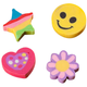Smiley Face Erasers & Flower Erasers - Pack Of 36, One Size