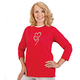 Rhinestone Trio Hearts 3/4 Sleeve Shirt