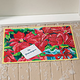 Personalized Poinsettia Holiday Doormat