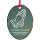 Personalized Glass Confirmation Ornament