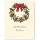 Wreath Of Gold Christmas Card Set/20