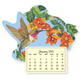 Floral Hummingbird Mini Magnetic Calender, One Size