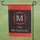 Personalized Red Damask Garden Flag
