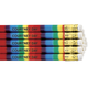 Round Rainbow Stripe Pencils - Set of 12