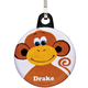 Personalized Monkey Zipper Pull, One Size