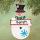 Personalized Snowman Ornament with Sign