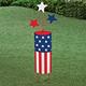 Patriotic Firecracker Garden Stake