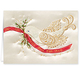 Satin Dove Christmas Cards - Set Of 20