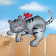 Metal Cat Fence Sitter