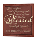 Personalized 12x12 Blessed Family Metal Wall Plaque, One Size