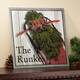 Personalized 12x12 Holiday Sled Metal Wall Plaque