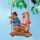 Swinging Squirrels Garden Figurine, One Size