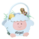 Personalized Lamb Easter Basket, One Size
