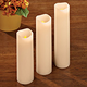 Flameless Vanilla Scented Candles Set of 3